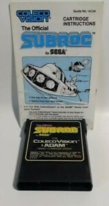 SUBROC-Colecovision-1983-GAME-MANUAL-TESTED