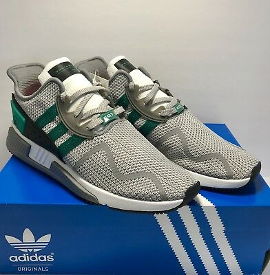 3ae996b4f735 Adidas Originals Mens Size 11.5 EQT Cushion ADV Grey Wolf Sub Green Black  White