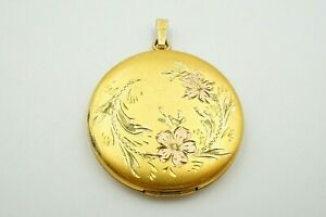 Vintage-1-20-12k-GF-Gold-Filled-Floral-Etched-Picture-Locket-Pendant