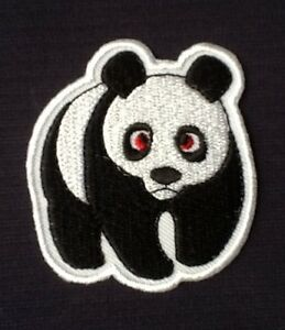 image is loading cute panda bear wwf animal logo badge iron