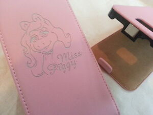 Samsung-Galaxy-S2-i9100-MISS-PIGGY-LEATHER-pink-flip-phone-case-cover-skin-pig