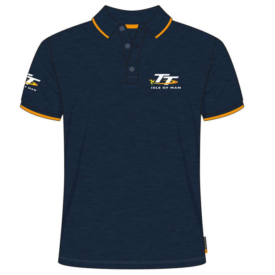 Official Isle of Man TT Races Petrol bluee Polo Shirt - 19AP5