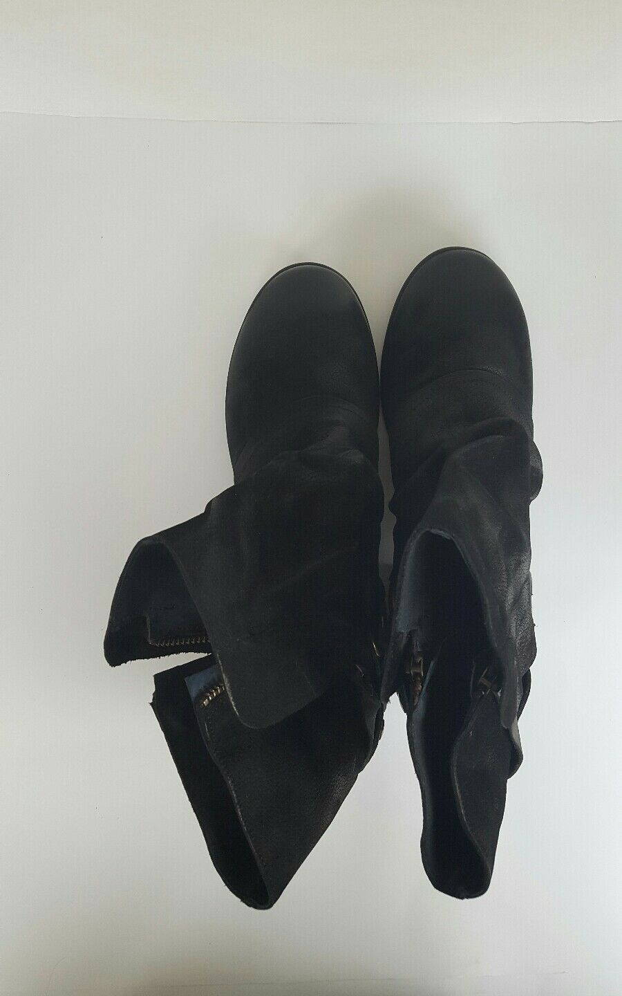 New Women's Lavoraxione Artigianale Fred Segal Leather Suede Black Black Black Boots Sz 9M b7ea66