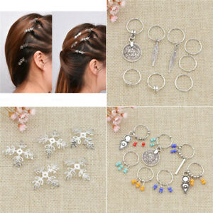 Dreadlock-Beads-Dread-Hair-Braid-Snowflake-Cuff-Clips-Accessories-DIY-Hairstyle