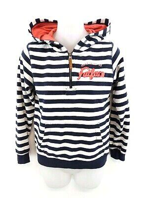 Streng Fat Face Womens Hoodie Jumper S Small Navy Blue White Stripes Cotton & Polyester Hell Und Durchscheinend Im Aussehen