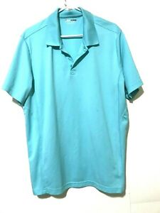 Fila-Mens-Performance-Golf-Polo-Shirt-Short-Sleeve-Blue-Size-XL