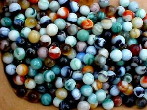 CHOCOLATE SWIRLS CHAMPION MARBLES or MARBLES 20 POUNDS OF 5//8/""