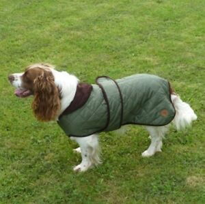 Country-Pet-Outdoor-Stylish-Quilted-Dog-Coat-Jacket-GREEN-52cm-20-inches