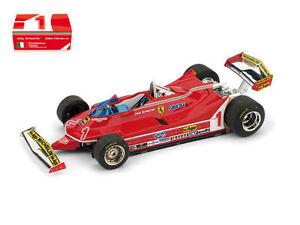 Ferrari 312 T5 Présentation Fiorano 1980 # 1 Jody # 2 Gilles F1 Formule 1 1:43