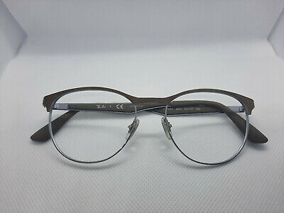 Ray-Ban RB 6365 2531 Brown Silver Eyeglasses Frame BROKEN