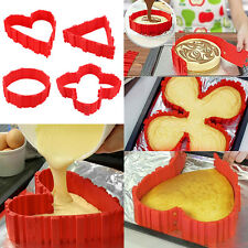 4Pcs Set Silicone Cake Mold Bake Snakes Create Cake Shape Nonstick Tray