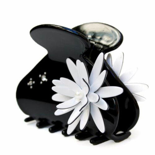 BlackWhite Daisy Moliabal Moliabal Medium Hair Claw