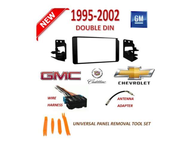 1995-2002 GM FULL SIZE TRUCK SUV 2 DIN CAR STEREO INSTALL DASH KIT, on