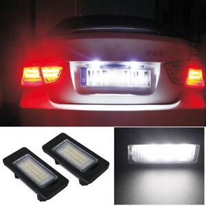 LED License Number Plate Light Lamp For BMW E39 E60 E82 E70 E90 E92 X3 X5 X6 UK