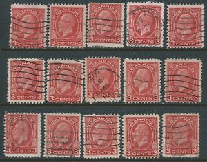 Canada-197-7-1932-3-cent-carmine-KING-GEORGE-V-15-Used-CV-3-75