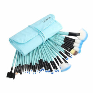 32 Pcs Vander Blue Soft Cosmetic Eyebrow Shadow Makeup Brush Set Kit Pouch  Bag d0bc4d48836eb