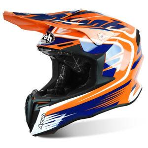 Airoh Torsion Mélange Orange Moto Mx Enduro Hors Route Moto Casque