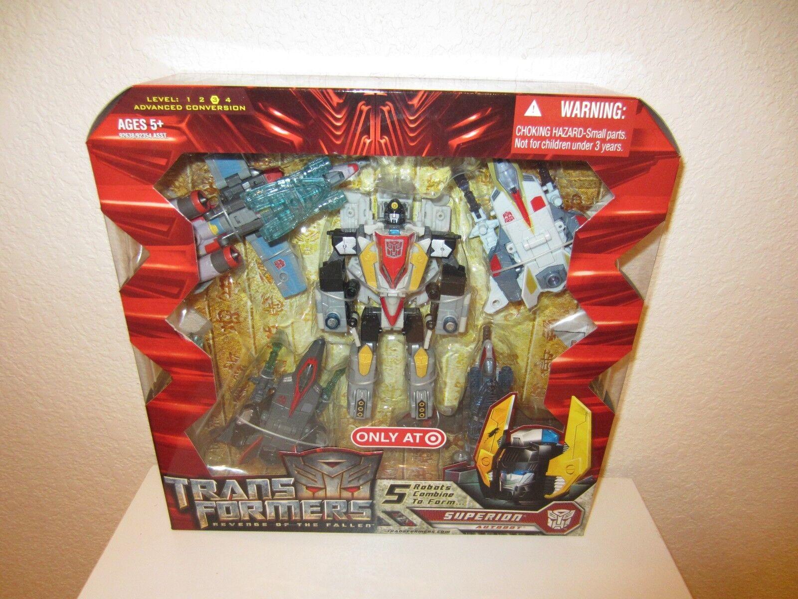 Transformers Movie Set di 5 ROBOT si combinano per formare Autobot Superion Target E NUOVO