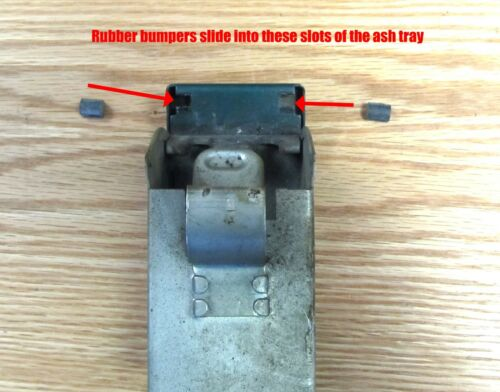 1955 1956 CHEVY ASH TRAY RUBBER STOP BUMPERS pair  ** USA MADE **