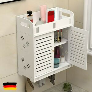 Wand Montiert Schrank Badezimmer Weiss Doppeltur Bad Aufbewahrung Schrank Rack De Ebay