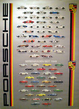 Porsche Street/ Race History/. Out of Print FREE SHIP Hard to Find Car Poster!