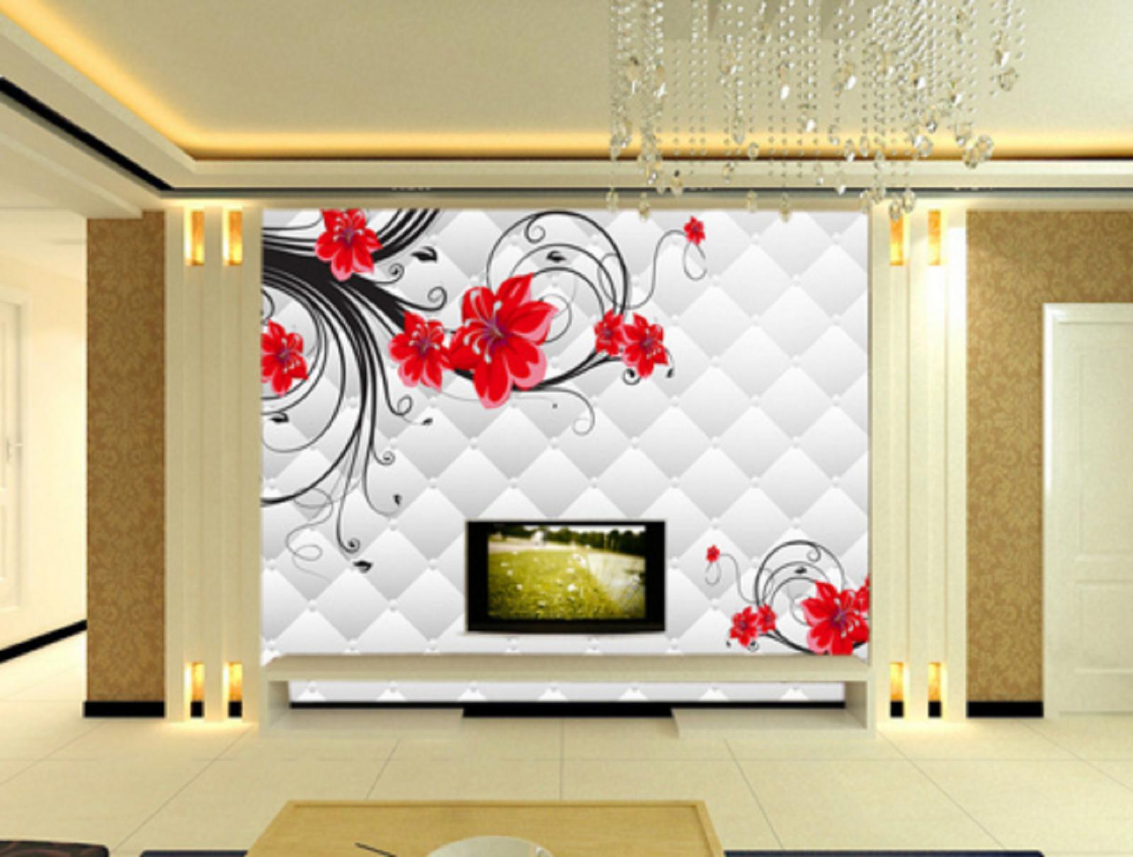 3D Hell Rote Blütenblätter 56 Tapete Tapeten Mauer Foto Familie Wandgemälde