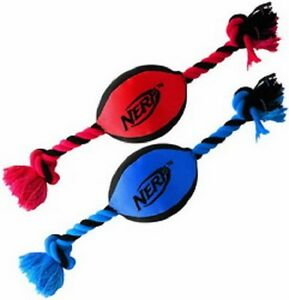 Nerf-Dog-TRACKSHOT-TUFF-TUG-Dog-Toy-CRUNCHABLE-amp-SQUEAK-15-034-COLORS-VARY