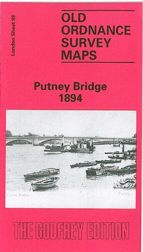 GODFREY EDITION OLD ORDNANCE SURVEY MAPS PUTNEY BRIDGE /& FULHAM