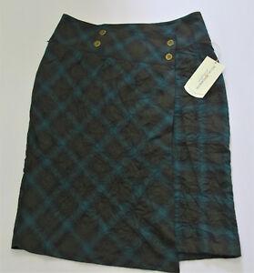 b4bc95b676 $70 Royal Robbins Womens Skirt Size 10 Crimped Flannel Green UPF 50 ...