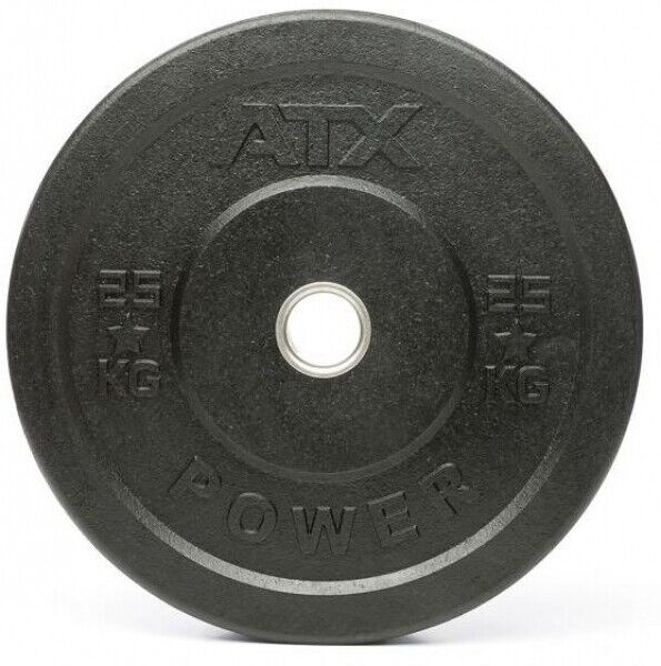 ATX Weight Plates Rough Rubber Bumper Plate, 25 KG