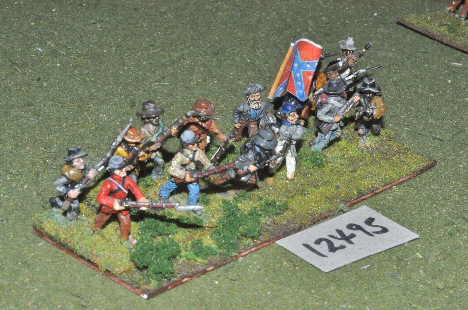 25mm ACW   confederate - american civil war infantry 14 figures - inf (12495)