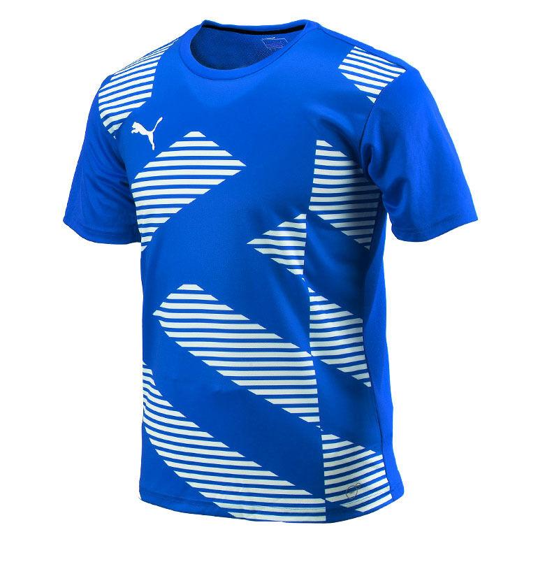 PUMA BTS Graphic S/S Top 65441302 Soccer Football Gym Gym Gym Training T-Shirts Dry Cell 655561