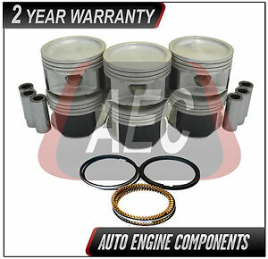 SIZE 020 Piston /& Ring Fits Chevrolet Pontiac Venture Impala Equinox 3.4 L OHV