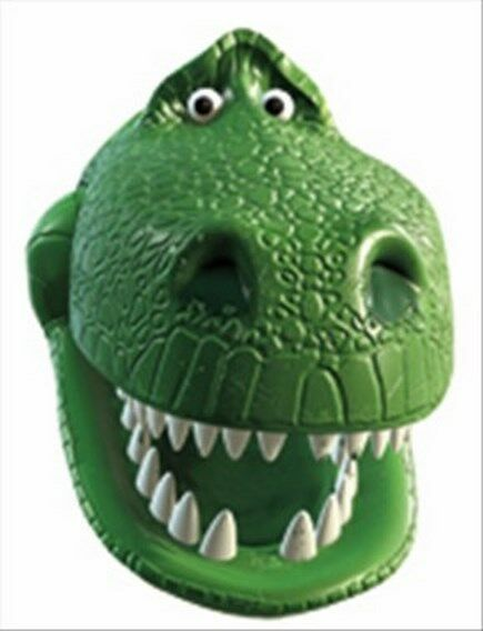 Rex the Dinosaur from Toy Story Disney Single Fun CARD Party Face Mask
