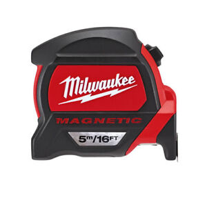 Milwaukee 48227216 GEN2 5m Magnetic Pro Tape Measure - Metric & Imperial  45242486939