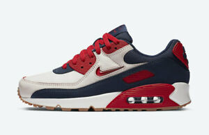Nike-Air-Max-90-PRM-Blue-Multi-Size-US-Mens-Athletic-Running-Shoes-Sneakers