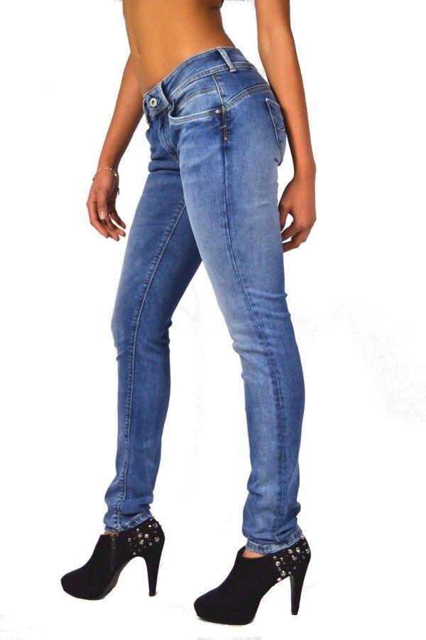 Coole Waschung  Pepe Jeans NEW BROOKE GD6 Powerflex Denim Mid Waist Slim Fit