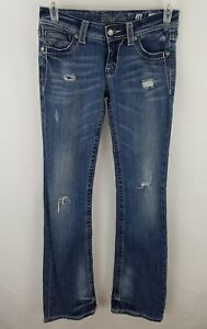 MISS-ME-Size-28-Womens-Cotton-Boot-Cut-Blue-Jeans-jp4369-5