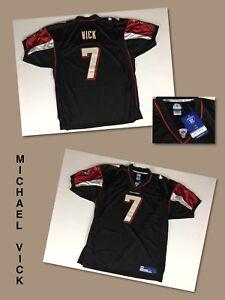 cc248c9c2cf Image is loading NOS-Vintage-MICHAEL-VICK-Atlanta-Falcons-Black-STITCHED-