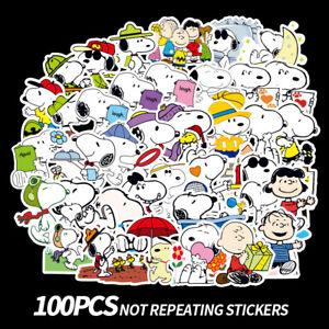 50pcs Snoopy Woodstock Stickers Luggage Skateboard Laptop Guitar Fridge Decal