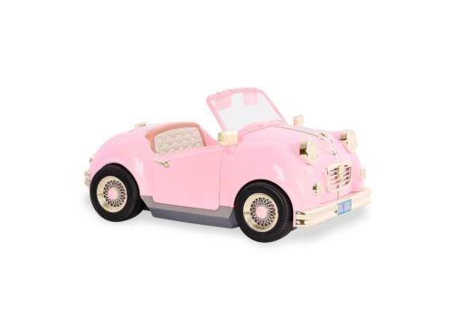 """Our Generation Retro Convertible Car Pink Lights Music for 18/"""" Dolls NEW"""