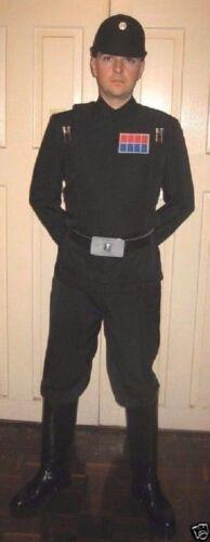 Ranks costume Set Star Wars Imperial Officer Black Uniform Belt Cap