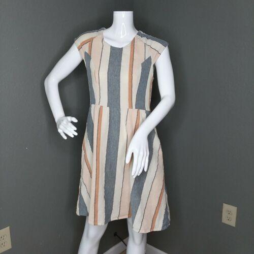 Mata Traders Mondrian Dress Pastel Stripes Size Sm