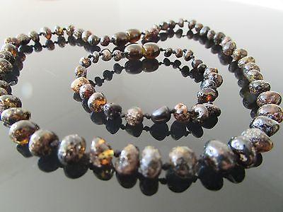 Trustful Pure Baltic Amber Necklace & Bracelet Set Dark Green Colour bracelets 14-17 Cm Fashion Jewelry