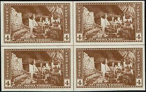759-CENTER-LINE-BLOCK-1935-4-CENT-PARKS-FARLEY-ISSUE-MINT-NH-NO-GUM-AS-ISSUED