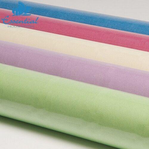 Essential Housewares Damask Banquet Roll Pastel Colour 8MX1.2M Wedding Party New