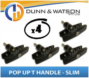 Details about Slim Pop Up T Lock / Handle / Latch (Trailer Caravan Canopy  Canopie Toolbox) x4