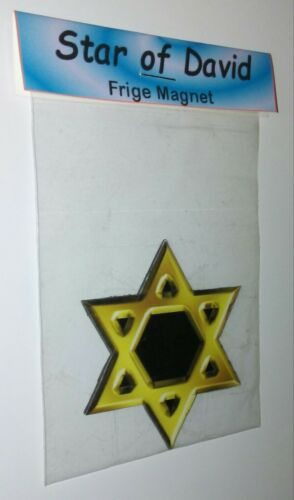 Gold Star of David Frige Magnet Laminate Protected. 2.5 around in Aprox