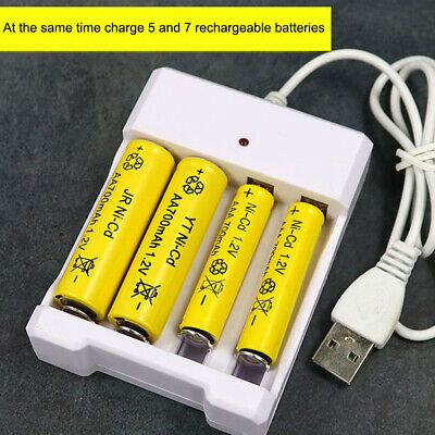 Ni-Cd Rechargeable Batteries AAA Ni-MH 4 Slot USB Battery Charger For AA