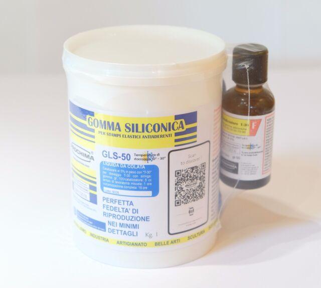 Gls 50 Gomma Siliconica Prochima 1 1 1 Kg Ebay